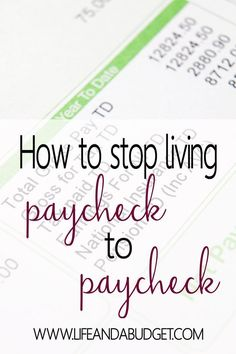 In this post, you will learn how to get a month ahead of your expenses so you can stop living paycheck to paycheck. It all starts with your budget and your willingness to cut expenses and earn extra income. Read today so you can get ahead tomorrow!