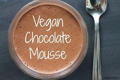 Vegan Chocolate Mousse #Aquafaba. Made with aquafaba / chickpea brine / water.