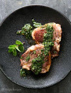 Lamb Loin Chops with Mint Chimichurri Recipe | Simply Recipes