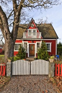 Red cottage.