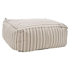 """Safavieh Furniture - Some call them beanbags, others prefer """"Pouf"""". Either way, Safavieh's Large Pouf Ottoman with multicolored neutral stripes on ecru ground speaks volumes Large Ottoman, Pouf Ottoman, Furniture Deals, Luxury Furniture, Furniture Outlet, Online Furniture, Contemporary Fabric, Discount Rugs, All Modern"""