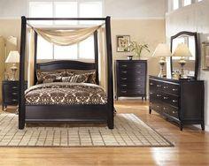 7 Pc Ashley Averille Dark Brown Queen Bedroom Set $1899