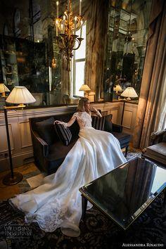 alessandra rinaudo 2017 bridal long sleeves round neck lace heavily embellished…