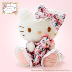 Hello Kitty Plush Toy Deluxe (Hello Kitty meets LAURA ASHLEY)