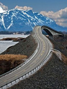 Norway's Storseisundet Bridge. Is this road sexy or what? Gotta tear up some rubber on this one.