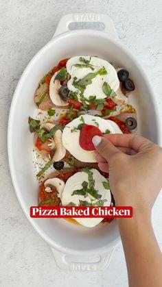 Low Carb Recipes, New Recipes, Dinner Recipes, Cooking Recipes, Favorite Recipes, Healthy Recipes, Baked Chicken, Chicken Recipes, Chicken Pizza