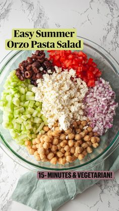 Healthy Salad Recipes, Veggie Recipes, New Recipes, Whole Food Recipes, Lunch Salad Recipes, Recipes With Beans Healthy, Cooking Recipes, Super Food Recipes, Meal Prep Salads