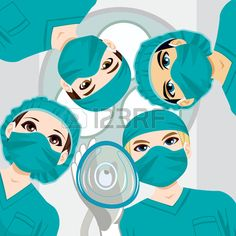 Medical team working on a surgery and doctor holding oxygen mask towards patient Medical Symbols, Medical Logo, Medical Art, Surgery Doctor, Oxygen Mask, Medicine Student, Cute Girl Drawing, Medical Illustration, School Decorations