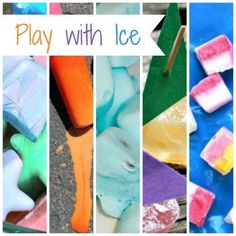 15 Ways To Play with Ice - so many fun ideas to try before summer is over!