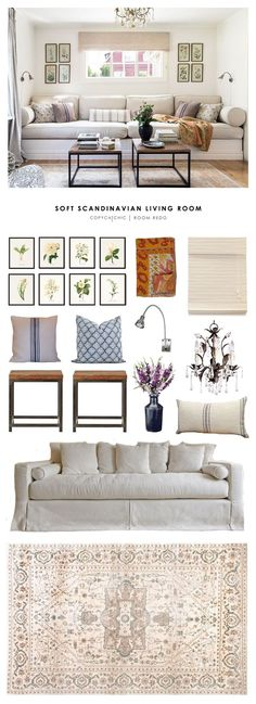 Copy Cat Chic Room Redo | Soft Scandinavian Living Room