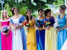 The bride's maids would be all of the princesses!