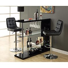 Black and Chrome Metal 48-inch Bar Table Rating 5 1 reviews Read Reviews Write a review Today $334.99 Club O Members Only: Earn $16.75 in Club O RewardsTM + Free Shipping Accept terms & add Club O to Cart for $19.95