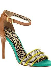 Jessica Simpson Jessie strappy sandal with pop of texture and color.