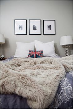 Fur bed throw, is an instantly cosy accessory for the home and an essential for the winter.