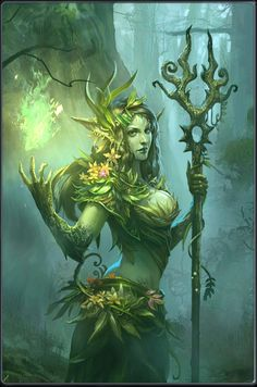 "Druantia is a hypothetical Gallic tree goddess proposed by Robert Graves in his study The White Goddess (1948). In Neopaganism, Druantia is an archetype of the eternal mother as seen in the evergreen boughs. Her name is believed to be derived from the Celtic word for oak trees, ""drus"" or ""deru"". She is known as ""Queen of the Druids"". She is a goddess of fertility for both plants& humans, ruling over sexual activities& passion. She also rules protection, trees, protection of trees…"