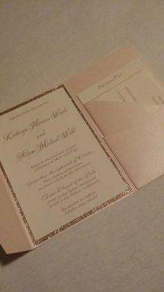 Glitter Wedding Invitation Pocketfold Wedding by SincerelyCouture