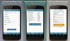 FREE Roofing Calculator App – iPhone, iPad and Android Roofing Estimate, Roof Types, Calculator, Mobile App, Make It Simple, Ipad, Android, Iphone, Free