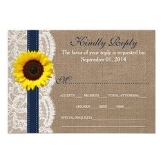 The Rustic Sunflower Wedding Collection - Navy