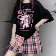 Mode Pop Punk, Mode Emo, Edgy Outfits, Cute Casual Outfits, Pretty Outfits, Egirl Fashion, Cute Fashion, Fashion Outfits, Pastel Goth Fashion