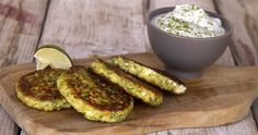 Greek zucchini fritters by Greek chef Akis Petretzikis. A delicious Greek recipe for light and crispy zucchini and herb fritters that are not oily or greasy! Vegan Grilling, Grilling Recipes, Veggie Recipes, Easy Recipes, Best Dishes, Food Dishes, Baked Zucchini Fritters, Savoury Baking, Greek Recipes