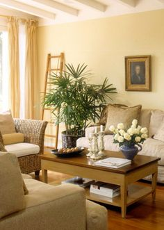 1000 images about living room dining room on pinterest - Pale yellow walls living room ...