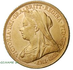 Australia Melbourne 1895 Sovereign Victoria Older veiled head Gold Oro Or #403