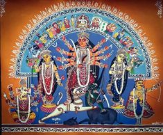 130 Likes, 21 Comments - Anurit Ghosh Durga Painting, Lord Shiva Painting, Mother Kali, Hindu Culture, Chakra Art, Digital Art Fantasy, Hindu Dharma, Indian Folk Art, Durga Puja
