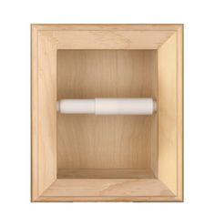 Solid Wood Recessed in wall Bathroom Toilet Paper Holder-Multiple Finishes (Natural), WG Wood Products Wood Bathroom, Bathroom Toilets, Small Bathroom, Bathroom Storage, Bathroom Ideas, Recessed Toilet Paper Holder, Bathroom Toilet Paper Holders, Best Toilet Paper, Contemporary Toilets