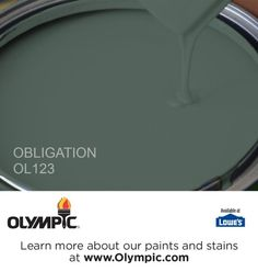 OBLIGATION OL123 is a part of the greens collection by Olympic® Paint.