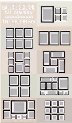 different photo collage arrangement ideas - Picture Hanging Arrangements