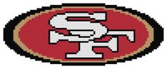 Counted Cross Stitch Pattern, San Francisco 49ers Logo, Modified, Instant Download, PDF Pattern, Hand Designed by Dreamy Memories
