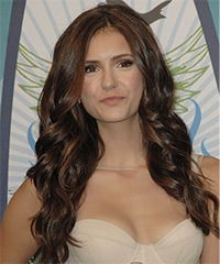 Nina Dobrev Hairstyle: Formal Long Wavy Hairstyle