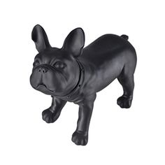 Bulldog Form Black - Give your display a fun new look with the bulldog form. Use as an accent piece to tell a story or showcase a favorite product. Features a flat top surface for displaying small products, swivel head, accent collar and is made of PVC plastic.<br /><br />