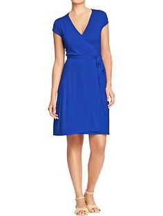 Women's Cap-Sleeved Wrap Dresses  Old Navy $24.50