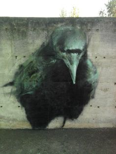 A mind without purpose will wander in dark places. The Crow, a street art graffiti by Manolo Mesa. Graffiti Kunst, Graffiti Artwork, Street Art Graffiti, Graffiti Painting, Graffiti Artists, Graffiti Lettering, Mural Painting, Abstract Paintings, Art Paintings
