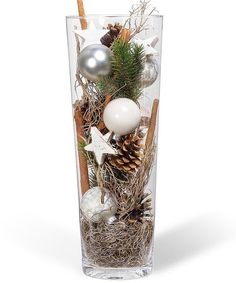 Ball Vase Snow-White – order now from Valentins Rustic Christmas, Simple Christmas, Winter Christmas, Christmas Time, Christmas Crafts, Rose Gold Christmas Decorations, Valentines Day Decorations, Xmas Decorations, Valentines Bricolage