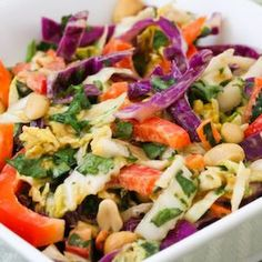 Asian Style Coleslaw Recipe Salads with creamy peanut butter, fresh ...