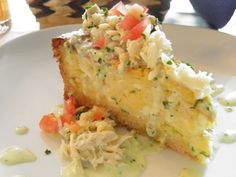 Savory Crab Cheesecake!!!  Melange in Cherry Hill, NJ makes the best ever...with a reduction onion sauce...Omg!!!  :)