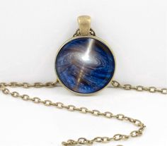 Vortex  Black Hole Space Celestial Pendant Necklace Inspiration Jewelry or Key Ring