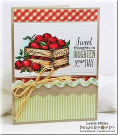 Farmers Market Stamp Set - Stamps by Power Poppy, Card Design by Leslie Miller!