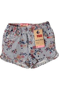 Shorts Jeans Estampa de flores. http://www.nanapetit.com.br/shorts-gabriela-ruffle-p1018/