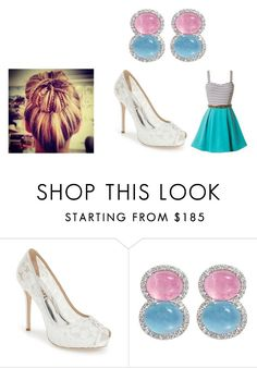 """party"" by alissaoriginal on Polyvore featuring Badgley Mischka"