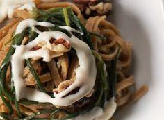Denny Chef Blog: Fettuccine integrali con agretti, noci e salsa al formaggio