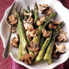Roasted Asparagus & Mushrooms