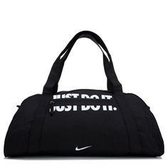 Get a bold look going back and forth to the gym in the Gym Club Duffel Bag from Nike.Durable water resistant nylonDual zippered main compartmentZippered exterior pocketDual carry handlesRemovable adjustable shoulder strapScreen printed logo and x 11 x 12 Nike Gym Bag, Nike Bags, Gym Club, Romantic Gifts For Him, Minimalist Bag, My Gym, Branded Bags, Nike Outfits, Workout Challenge