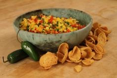 Mango Salsa.  Had this at outback this weekend and it was fabulous with seared shrimp n scallops!   No corn though.