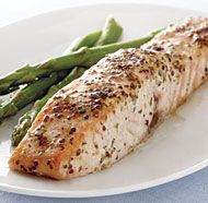 Roasted Salmon with Mustard and Tarragon
