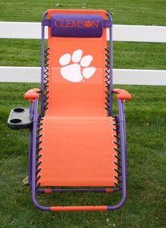 NCAA - Clemson Tigers Zero Gravity Chair (College Covers) (Free Shipping. Use Savings Code: FREESHIP)