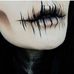 Lidschatten: Dunkle Materie + The Rust s … - Halloween Make-up Creepy Makeup, Sfx Makeup, Cosplay Makeup, Costume Makeup, Demon Makeup, Makeup Brushes, Doll Eye Makeup, Fake Makeup, Ghost Makeup