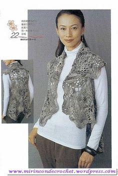 Original chaleco con motivos hexagonales « Mi Rincon de Crochet